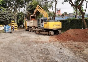 Pavimentação na Empresa Parker na Cidade de Diadema